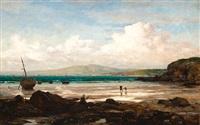 la baie de douarnenez à marée basse by jules breton