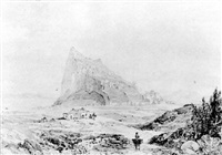 gibraltar from spain by john miller (general sir) adye