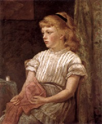portrait of a young girl by blanche f. macarthur