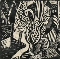 figure in landscape by irving g. lehman