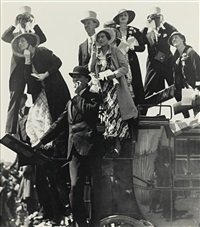 coach party, royal hunt cup day, ascot by bill brandt