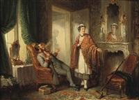 op de kamer van mevrouw: the mischievous servants by henricus engelbertus reijntjens