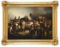 le général autrichien kray rend hommage au général marceau le 21 septembre 1796 by françois bouchot