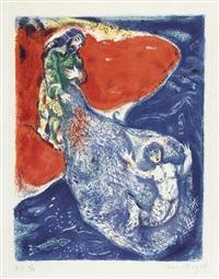 blatt aus der folge four tales from the arabian nights, eine von 12 lithografien by marc chagall