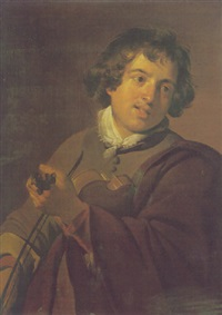 portrait of a youth playing a violin by frans pietersz de grebber