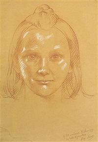 portrait de fillette by alexandre séon