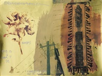 plakat wystawy dla galerii knoedler&co by robert rauschenberg