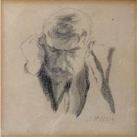 head of a man by joseph stella