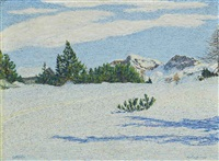 neve al sole by gottardo guido segantini