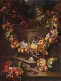 nature morte aux fleurs et fruits by jan pauwel gillemans the younger
