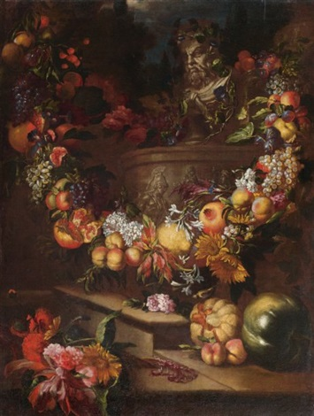 nature morte aux fleurs et fruits by jan pauwel gillemans the younger