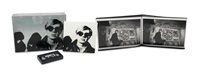 andy warhol (metal box w/20 works, some mounted, 1 silkscreen on canvas and 1 vhs) by nat finkelstein