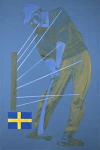 kricketspelare by mats h. holgersson