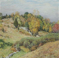 the passing glory by willard leroy metcalf