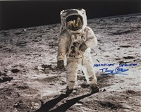 the first words from buzz aldrin as he stepped on to the moon by neil armstrong