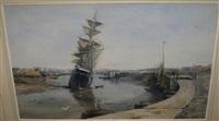 trois-mâts à marée basse by ketty gilsoul-hoppe