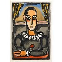 pierrot noir from cirque de i'etoile filante by georges rouault