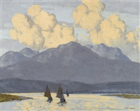 the fishing fleet, county galway by paul henry