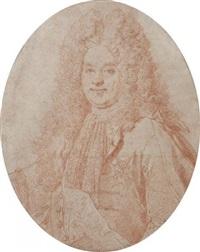portrait du maréchal d'estrées (after largillière) by gérard audran