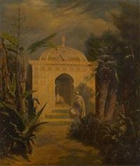 l'arrivée au mausolée by joseph coomans
