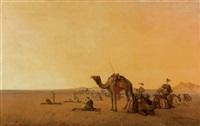 la halte de la caravane by henrik august ankarcrona