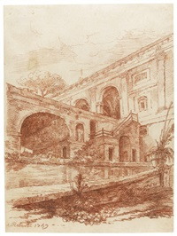 the villa madama by hubert robert