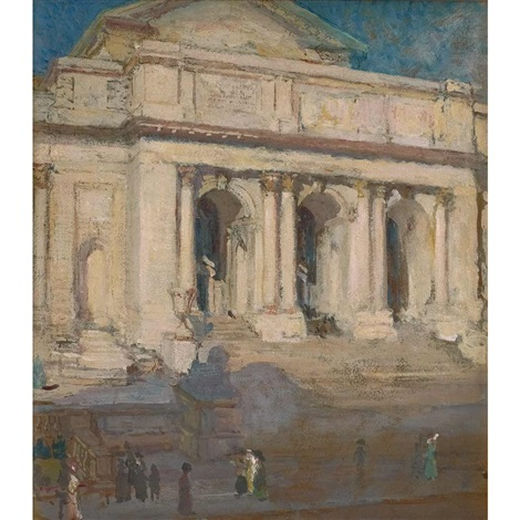the new york public library by colin campbell cooper