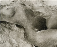 iman, torso horizontal, atlantic beach, new york by herb ritts