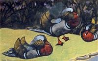 les canards mandarins by georges manzana-pissarro