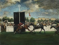 the finish at an english country racecourse by jacques emile blanche