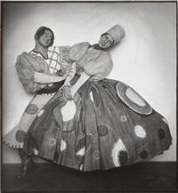 hedy pfundmayr und otto werberg in dorfidyll (slowakisches volkslied) by rudolf koppitz