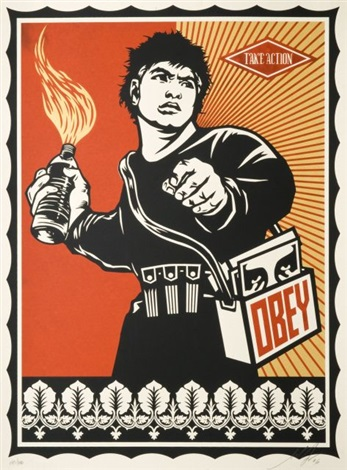 molotov man by shepard fairey