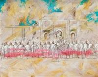 sa majesté le roi et le cortège royal escortés de la garde noire by patrice laurioz