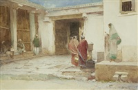 at the well, india by carlton alfred smith