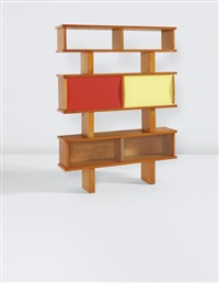 bibliothèque, model no. 13, from 'l'equipement de la maison' series, grenoble by charlotte perriand & pierre jeanneret