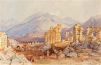the ruins of laodicea, asia minor by thomas allom