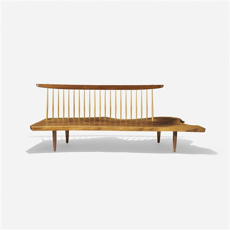 conoid bench with spindle back by george nakashima