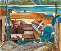 view of the danube (szentendre) by jozsef bánáti sverák