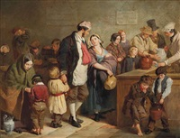 the parish soup kitchen by george elgar hicks