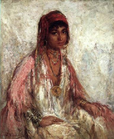 Jeune fille au foulard rouge by Edouard Verschaffelt on artnet fc9b80d1960
