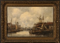 a bit of old deventer holland by hermanus koekkoek the younger