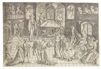 der große ball in der residenz des herzog albert iv. von bayern by matthaus zasinger