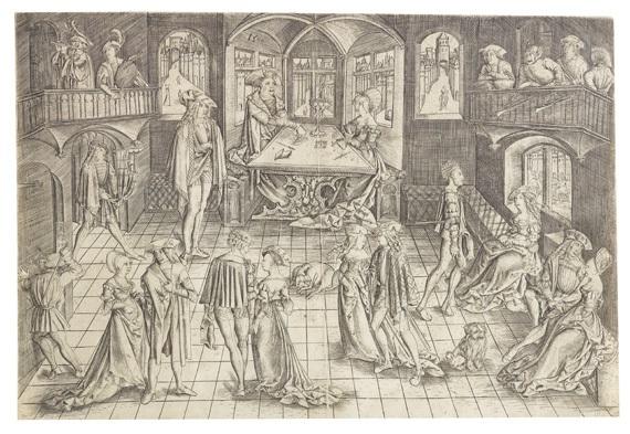 der große ball in der residenz des herzog albert iv von bayern by matthaus zasinger