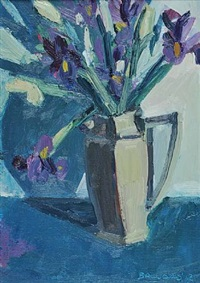 irises in a jug by brian ballard