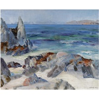 pulpit rock, iona (+ view from iona, lrgr; 2 works) by william mervyn glass