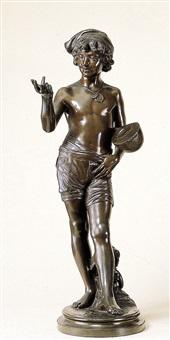 napolitaanse jongen met mandoline by alphonse de tombay