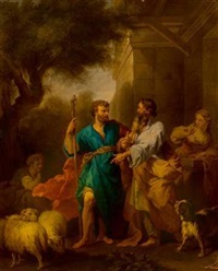 jacob et laban by jean restout the younger