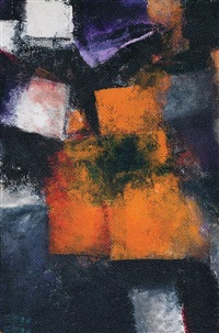 composition in orange and black by avigdor arikha