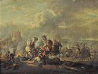 a cavalry skirmish by carel van falens
