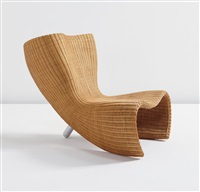 wicker chair, designed by marc newson